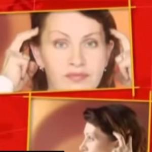 Подтяжка лица с разминкой мышц ушных раковин
