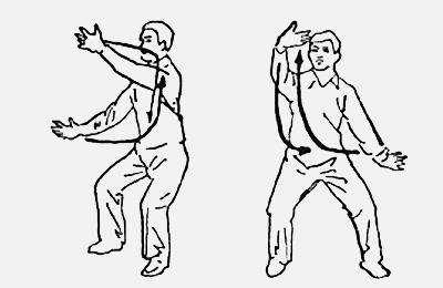 18 форм тайцзи-цигун Форма 10