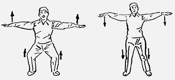 18 форм тайцзи-цигун Форма 15